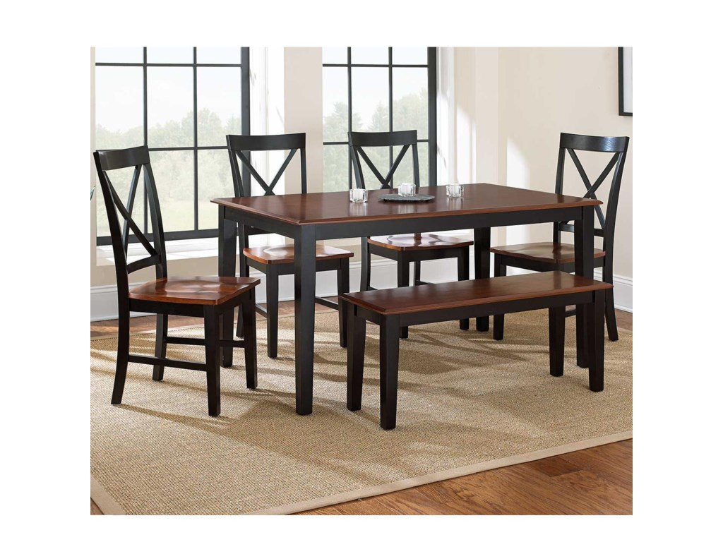 Steve Silver Kingston 6 Piece Casual Dining Table Bench Side
