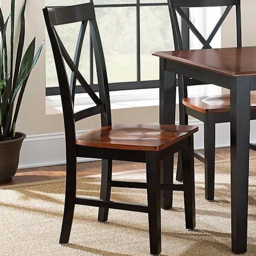 Steve Silver Kingston Casual Two-Tone X-Back Side Chair