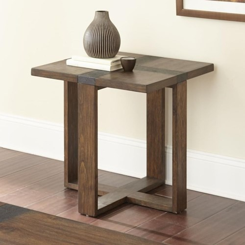 Steve Silver Klarissa End Table with Iron Cross Design