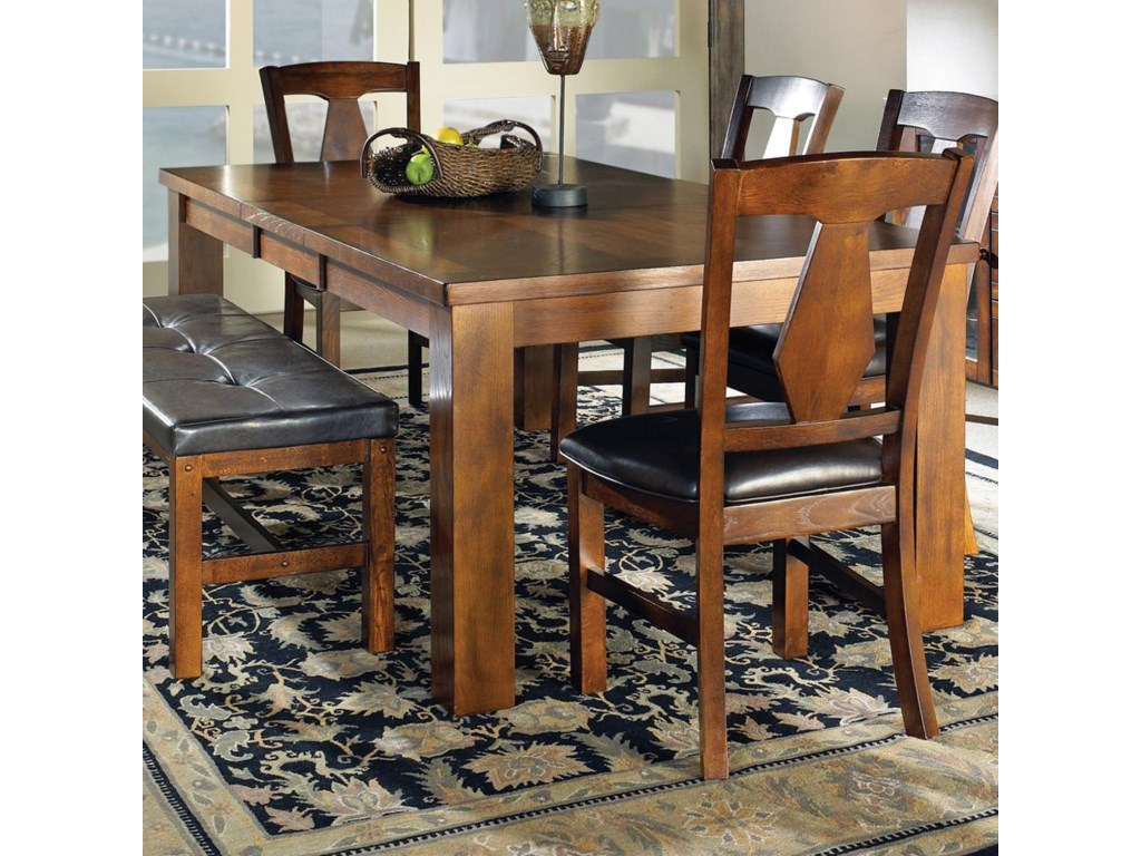 Steve Silver Lakewood Transitional Rectangular Dining Table With 18 Leaf