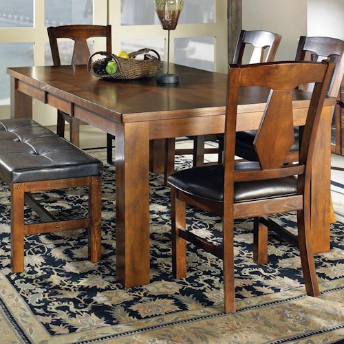 Steve Silver Lakewood  Transitional Rectangular Dining Table with 18