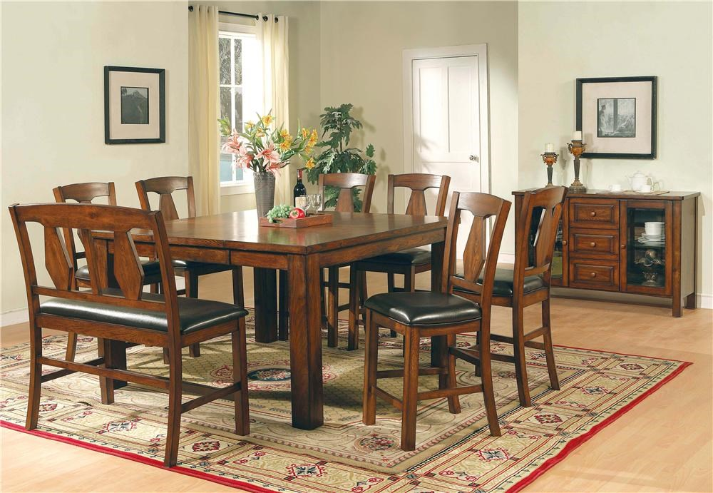 Shown with Chairs, Bench & Sideboard