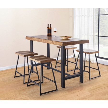 Counter Height Table and Stool Set