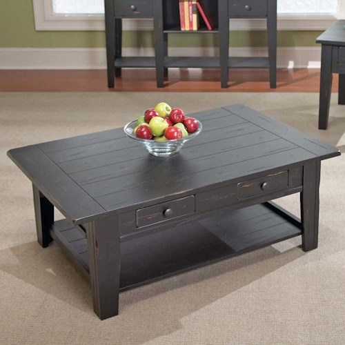 Steve Silver Liberty Casual 2-Drawer 1-Shelf Cocktail Table