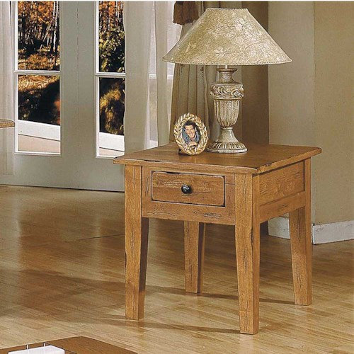Steve Silver Liberty Casual 1-Drawer End Table