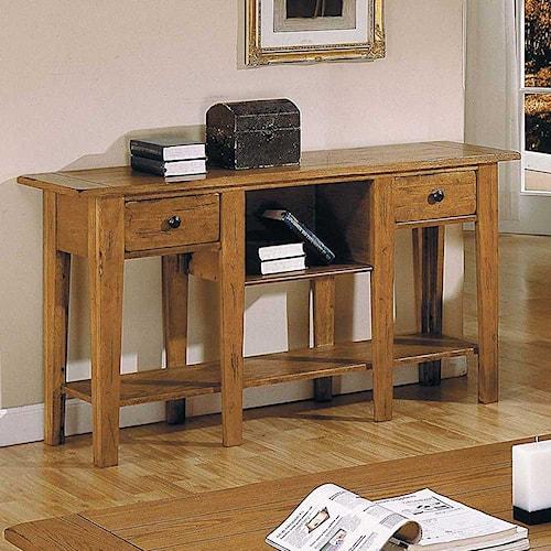 Steve Silver Liberty Casual 2-Drawer 2-Shelf Sofa Table