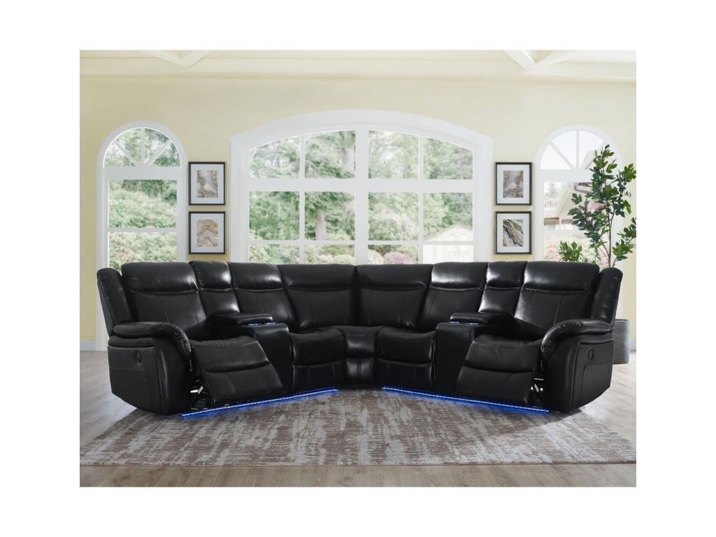 Levin 4 Seat Power Reclining Sectional Sofa