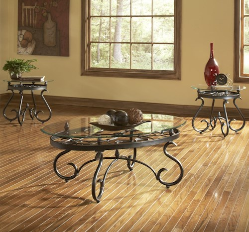 Steve Silver Lola Traditional 3-Pack Occasional Table Set | Wayside ...