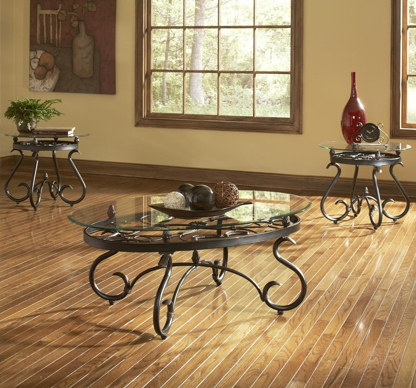 Steve Silver Lola Traditional 3 Pack Occasional Table Set