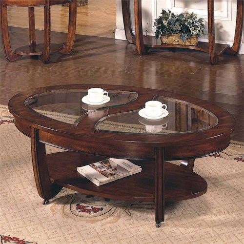 Steve Silver London Cocktail Table With Casters