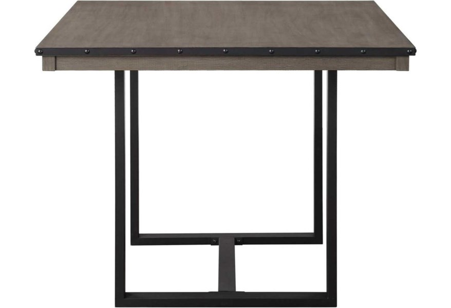 Steve Silver Lori Lr4646ptg Industrial 46 Inch Counter Height Square Dining Table Northeast Factory Direct Dining Tables