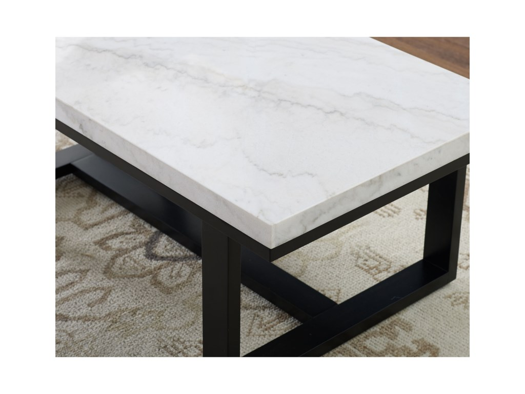 Steve Silver Lucca Lc200cas Transitional Marble Top Cocktail Table With Casters Sam Levitz Furniture Cocktail Coffee Tables