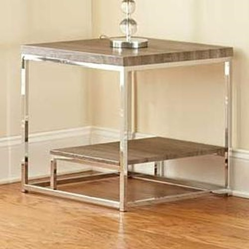 Steve Silver Lucia Square End Table with Shelf