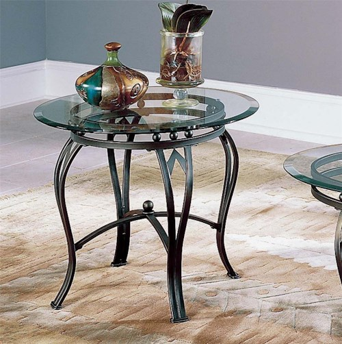 Steve Silver Madrid End Table Base & Glass Top