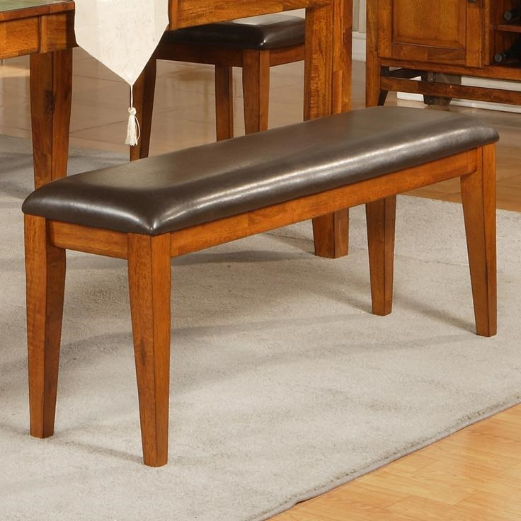 Steve Silver Mango Dining Bench With Upholstered Seat