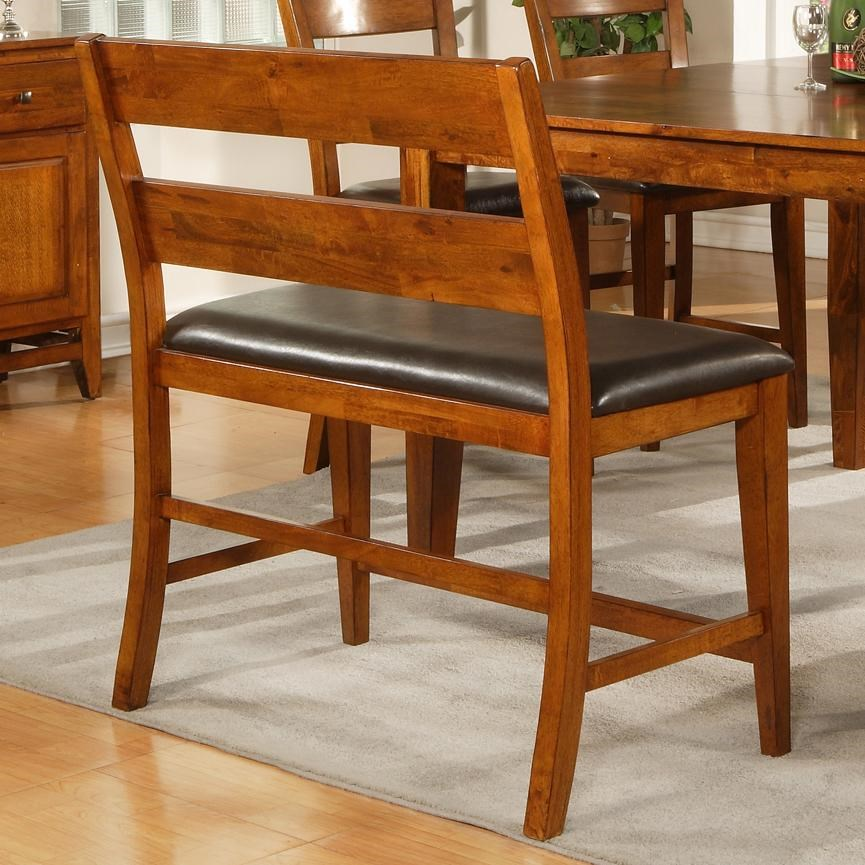 Steve Silver Mango Counter Height Bench With Upholstered Seat   Great  American Home Store   Bench   Dining Benches