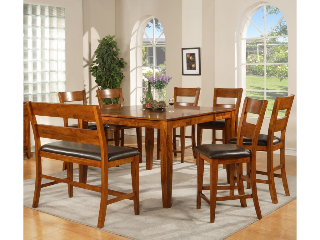 Shown with Dining Height Chairs and Counter Height Bench