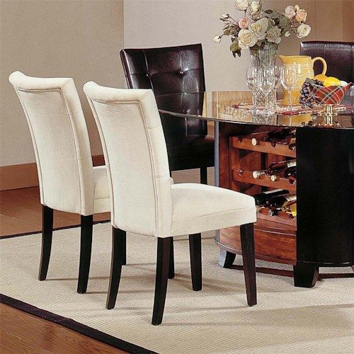Steve Silver Matinee Exposed Wood Parson Dining Chair
