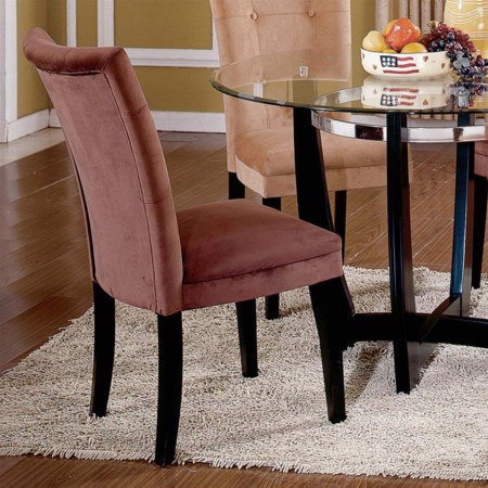 Exposed Wood Parson's Dining Chair