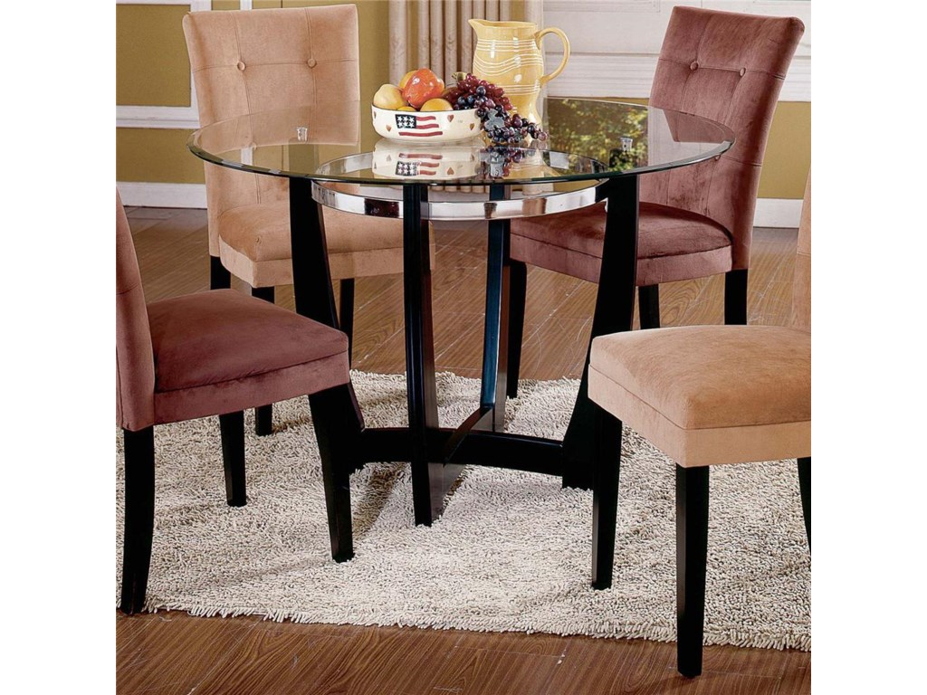 Steve Silver Matinee Glass Top Dining Table