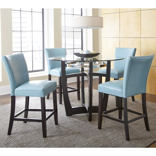 Steve Silver Matinee 5 Piece Counter Height Dining Set