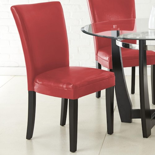 Steve Silver Matinee Bonded Leather Side Chair