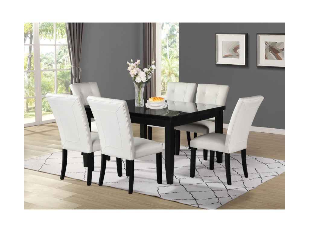 Steve Silver Markina7-Piece Square Table and Chair Set