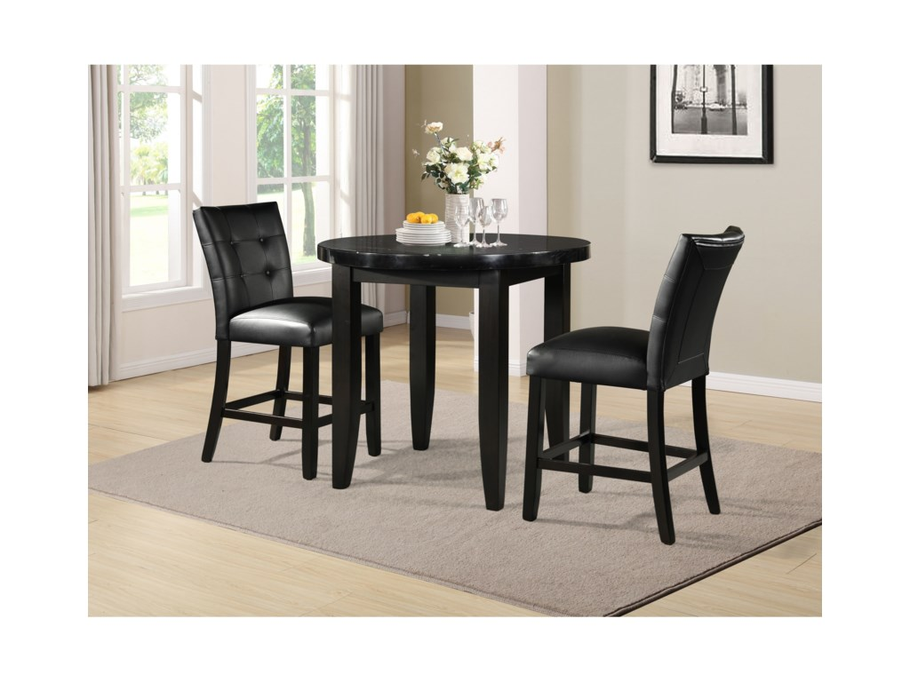 Steve Silver Markina3-Piece Counter Table and Chair Set