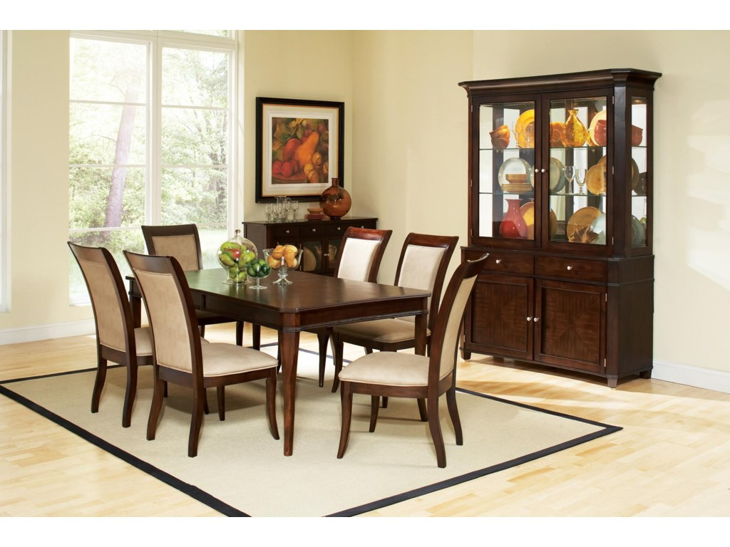 Shown with Table, Dining Side Chairs, and Sideboard