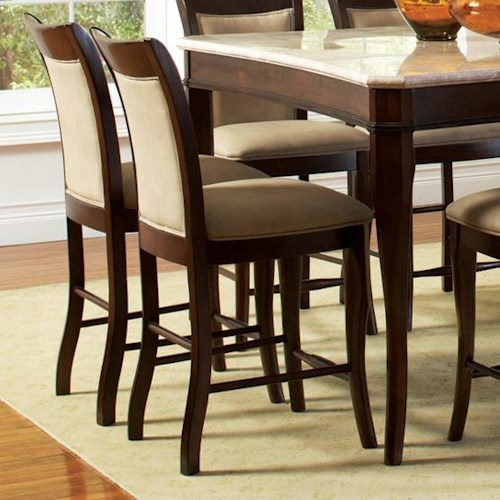 Steve Silver Marseille Transitional Counter Height Chair with Upholstered Seat and Back