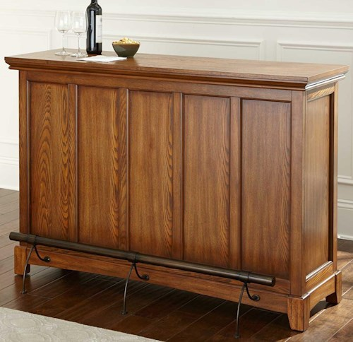 Steve Silver Martinez Bar Height Unit with Open Back Storage
