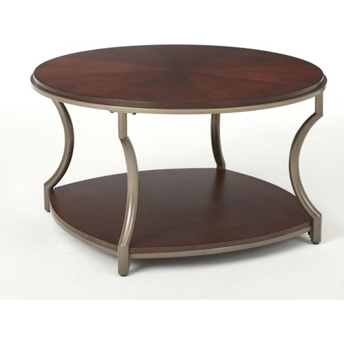 Steve Silver Maryland Round Cocktail Table with Shelf