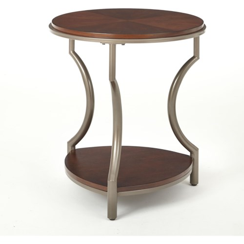Steve Silver Maryland Round End Table with Shelf
