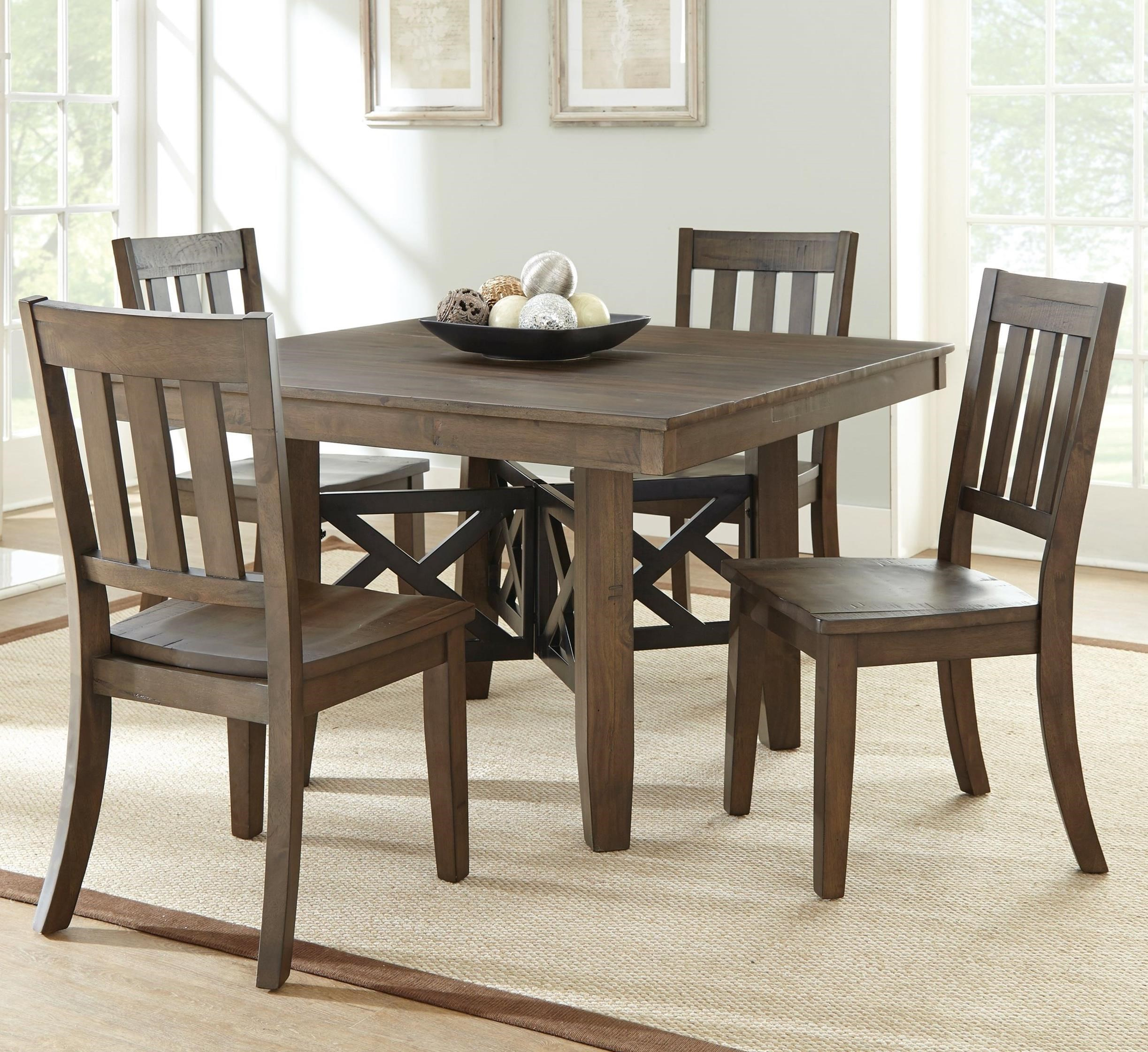 Picture of: Steve Silver Mayla Rustic Wood 5 Piece Table Set Wayside Furniture Dining 5 Piece Sets