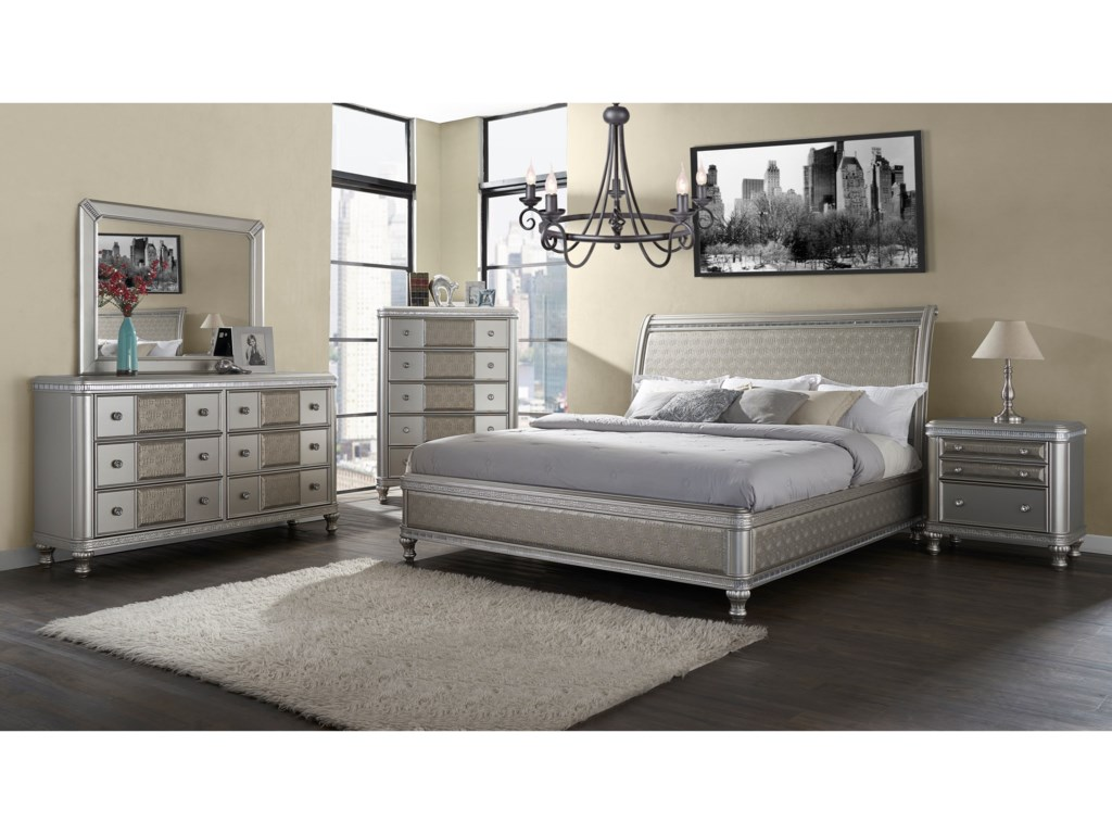 Morris Home MidtownKing Sleigh Bed