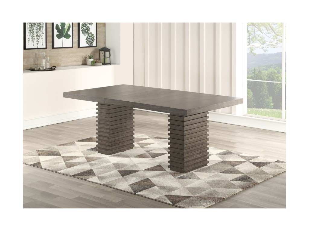 Steve Silver MilaDining Table and Chair Set with Bench
