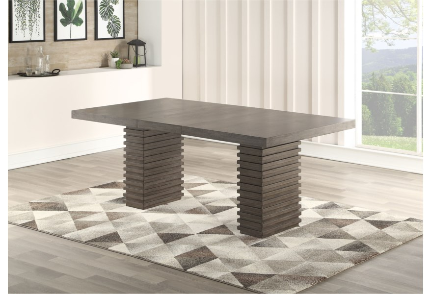 Steve Silver Mila Contemporary Dining Table and Chair Set ...