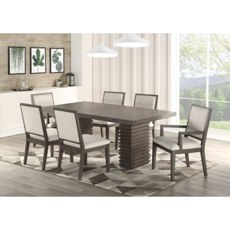 7 Piece Dining and Chair Set