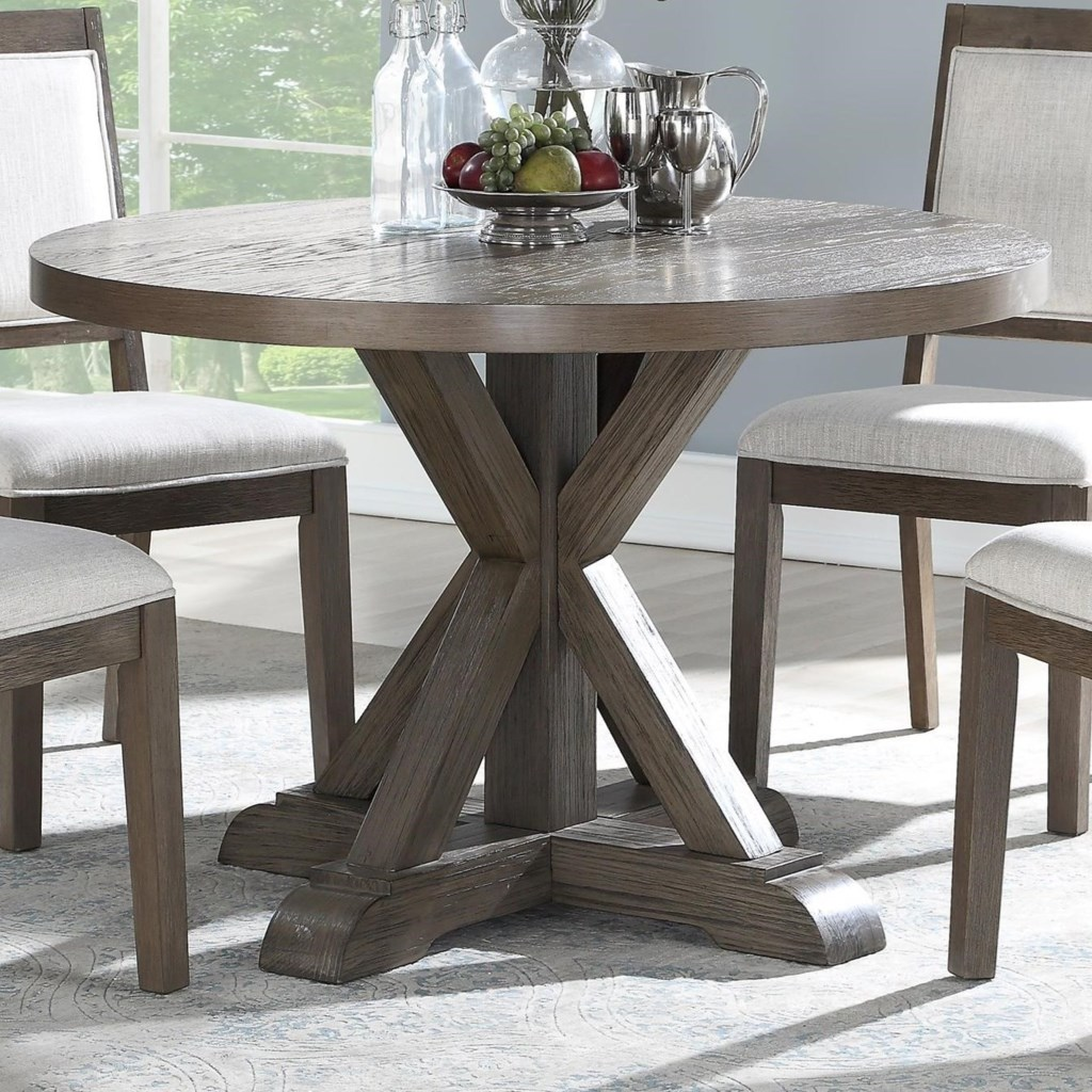 Steve silver molly rustic 48 round dining table