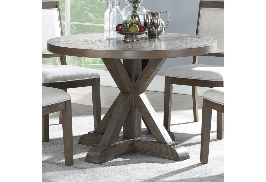 Steve Silver Molly Rustic 48 Round Dining Table Standard Furniture Dining Tables