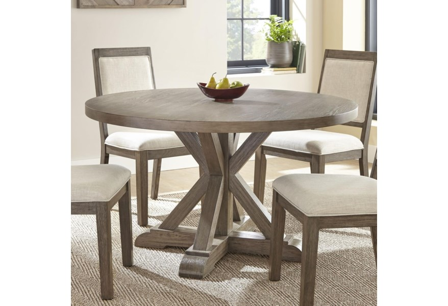Molly Rustic 54 Round Dining Table By Steve Silver At Standard Furniture