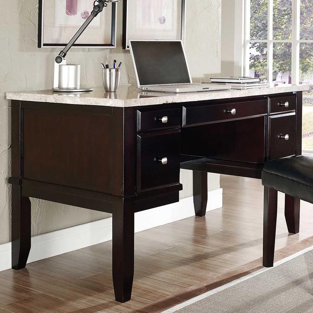 Steve Silver MonarchWhite Marble Top Writing Desk ...