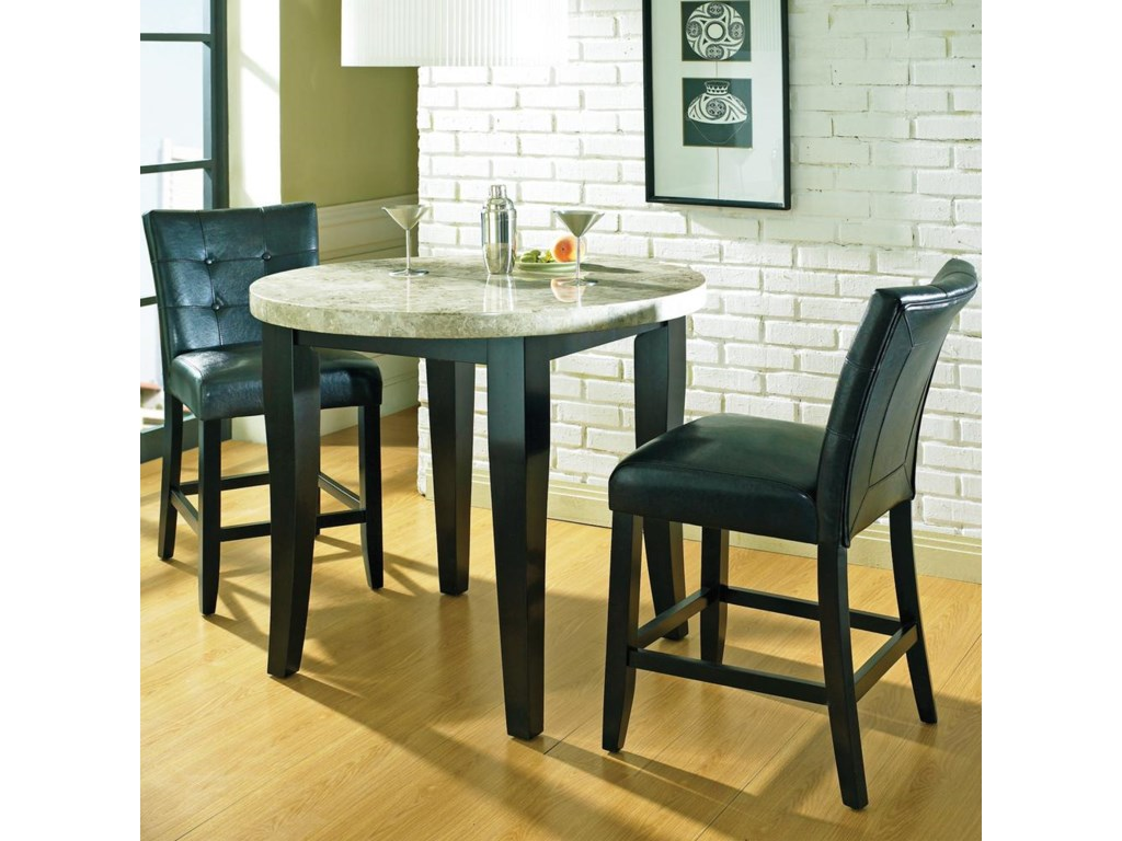 Round Counter Table with Parson Stools