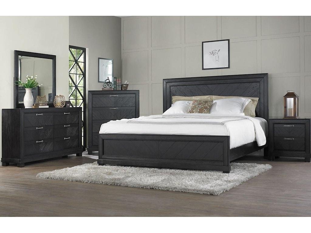 Steve Silver MontanaQueen Bed, Dresser, Mirror & Nightstand