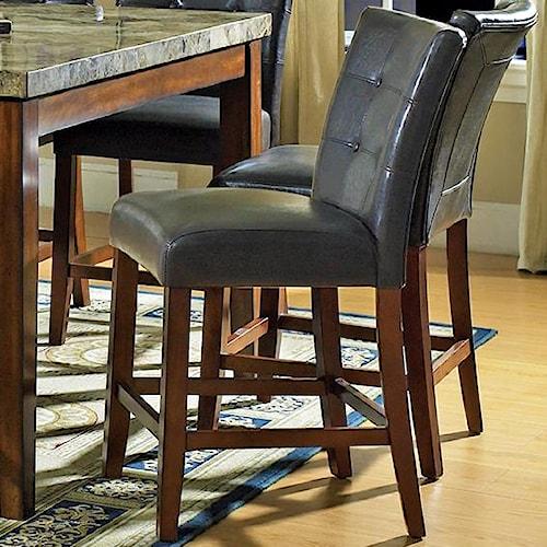 Steve Silver Montibello Dark Brown Parsons Counter Height Chair