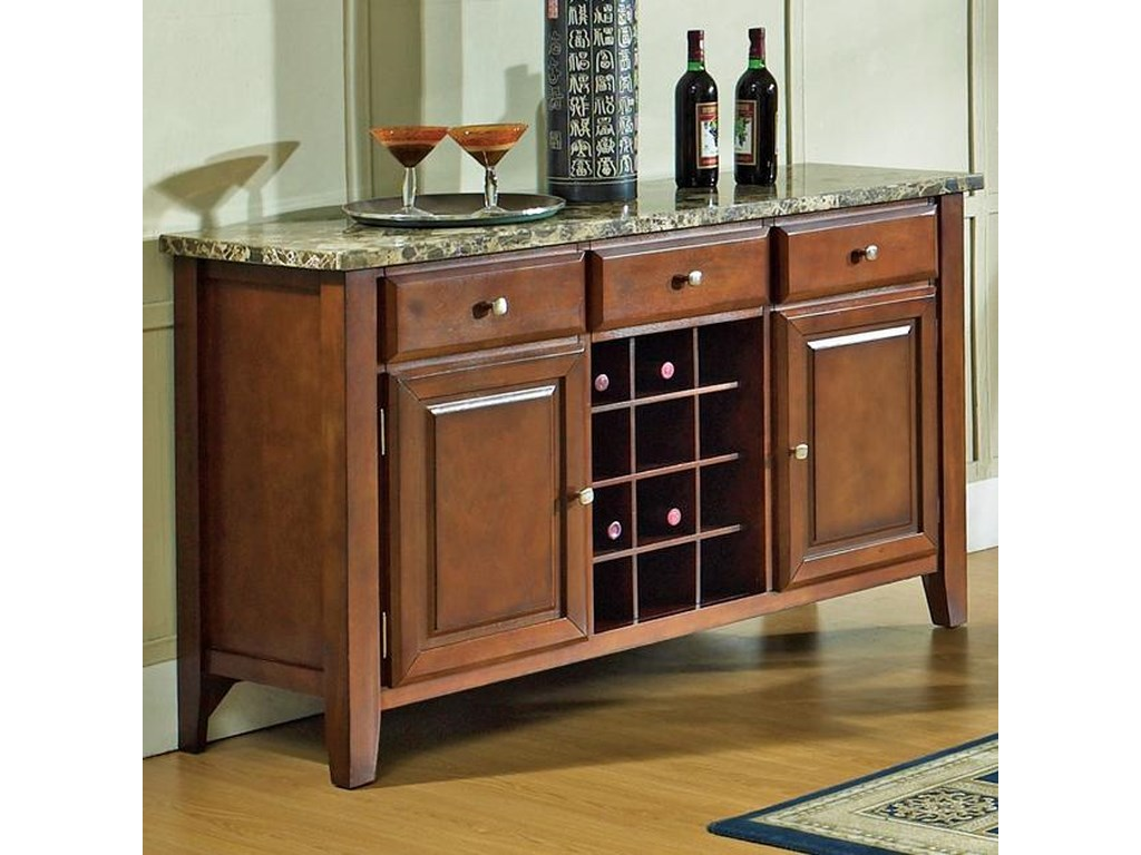 Steve Silver Montibellodining Server With Wine Rack