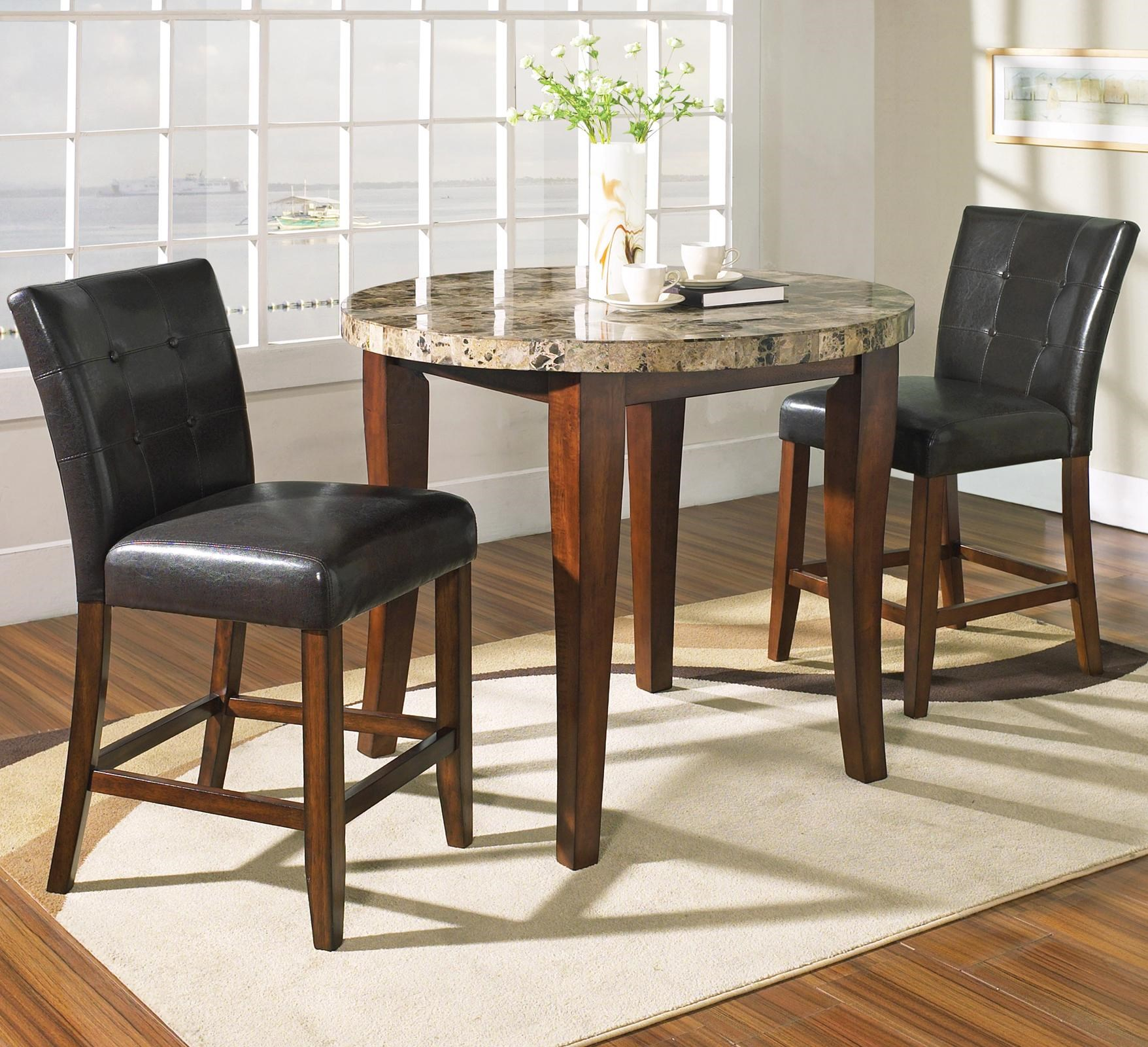 Steve Silver Montibello 3 Piece Counter Height Round Table And Chair Set