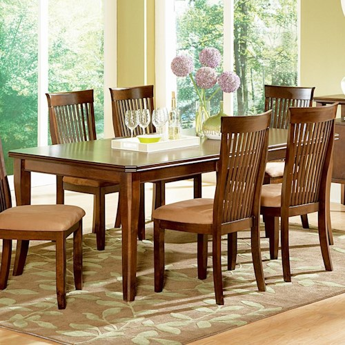 Steve Silver Montreal Transitional Rectangular Dining Table with 18