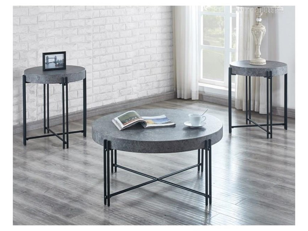 Steve Silver MorganCocktail Table and 2 End Tables Set