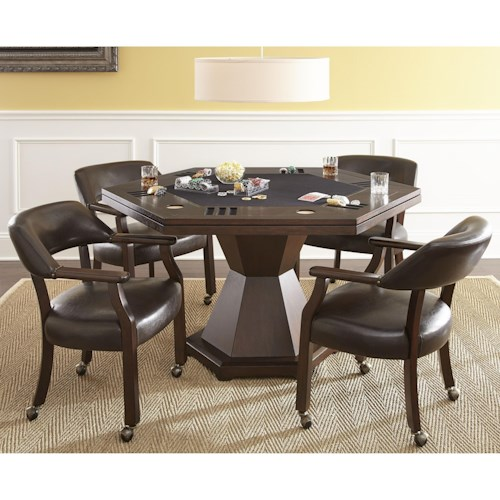 Steve Silver Morris Game Table Set with 2-in-1 Table